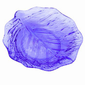 """LEAF PLATE 9"""", BLUE"""
