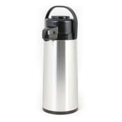 1.9 lt/64 OZ Airpot, S/S Body, Glass Lined,  Push Button