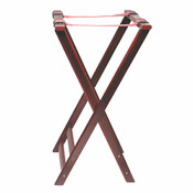 DOUBLE BAR WOOD TRAY STAND (MAHOGANY)