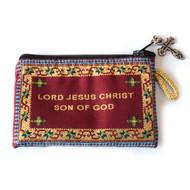 Jesus Prayer Rosary Purse-Maroon