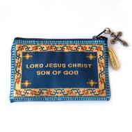 Jesus Prayer Rosary Purse-Blue