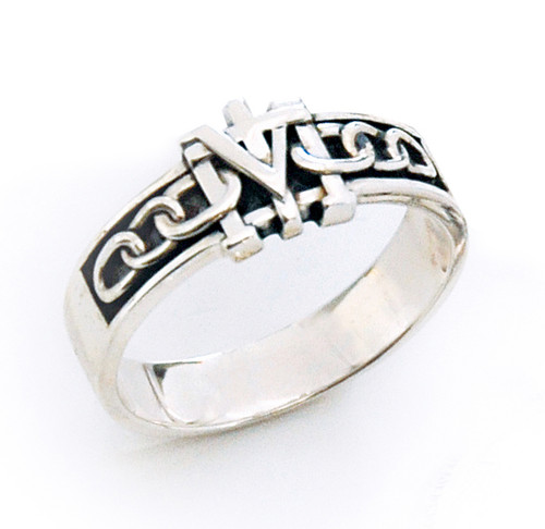 Sterling Silver True Devotion to Mary Ring for Men