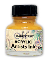 Manuscript 30ml Brilliant Yellow Artists Acrylic Ink Bottle