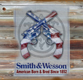 Smith And Wesson Old Wooden Sign 11 x 11 x 1