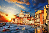 Amazing Venice On Sunset. View Of Grand Canal. Photograph