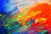 Colorful Abstract Acrylic Painting. Natural Dynamic Mixture Of Colors Flow Background. Photograph