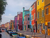The Burano Island, Venice Italy Photograph