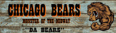 Chicago Bears Old Wooden Sign 5.5 x 17  x 1
