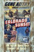 Colorado Sunset Old Wooden Sign 11 x 17 x 1