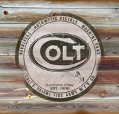 Colt Old Wooden Sign 11 x 11 x 1