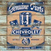 Genuine Part Chevy Old Wooden Sign 11 x 11 x 1