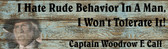 OLD Lonesome Dove Rude Behavior Old Wooden Sign 5.5 x 17  x 1