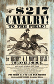 Civil War Reruiting Poster For Cavalry Old Wood Sign 11 x 17 X 1