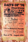 Deadwood Rodeo Old Wood Sign 11 x 17 X 1