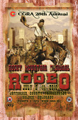 Rocky Mountain Rodeo Old Wood Sign 11 x 17 X 1