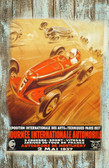 Tour De FRance Auto Racing 1937 Old Wood Sign 11 x 17 X 1