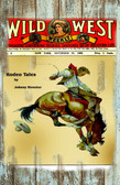Wild West Weekly Magazine 1902 Old Wood Sign 11 x 17 X 1