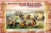 Buffalo Bills Wild West Show Old Wood Sign 11 x 17 X 1