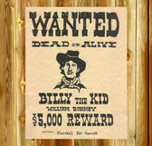 wanted poster billy the kid  11 x 11 Old Wood Sign  11 x 11 X 1