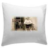 Gus Lonesome Dove Pillow Sham 14 x 14 Gus On Porch
