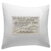 Hat Creek Cattle Co. Lonesome Dove Pillow Sham 14 x 14