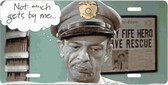 Barney Fife Lawman Motivational License Plate