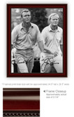 Arnold Palmer Jack Nicklaus Framed Print On Canvas 24 x 36