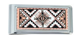 Copper and Daimond Cut Southwest Sunburst Native Money Clip