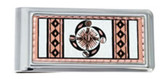 Copper and Daimond Cut SW Native Four Elements Money Clip