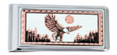 Copper and Daimond Cut American Bald Eagle Money Clip