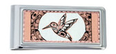 Copper and Daimond Cut Northwest Native Hummingbird Money Clip
