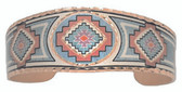 Aztec Design Rectangular Copper Bracelet