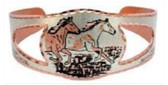 Wild Mustangs Running Copper Bracelet Horses