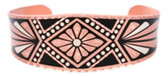 Diamond Design Native Indian Copper Bracelet