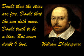 FamousQuote Poster  Doubt Thou The Stars Are Fire,  William Shakespeare