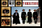 FamousQuote Poster  Tombstone Art Collage Justice Is Coming I'm Your Huckleberry