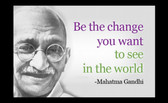 Famous Quote Poster  Gandhi's Famous Quote Poster  Be The Change You Want To See In The World