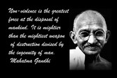 Famous Quote Poster  Non-Violence Is The Greatest Force At The Disposal Of Mankind. Mahatma Gandhi
