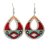All Copper Hopi Oval Design Copper Earrings