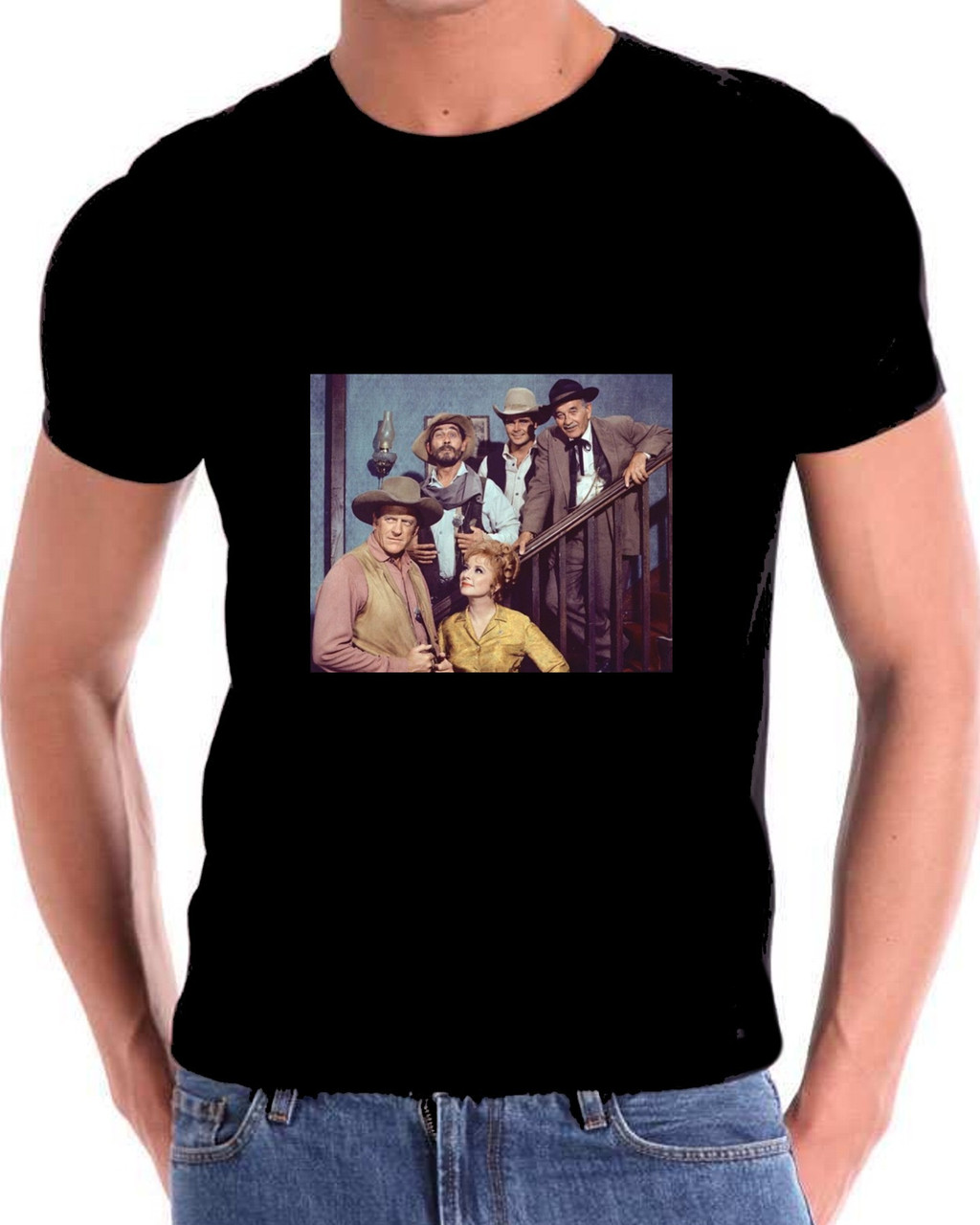 Gunsmoke Matt Dillon and cast T Shirt