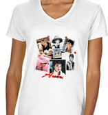 Collage Of Audrey Hepburn Mens T Shirt Pink Breakfast At Tiffany's  White