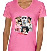 Copy of Collage Of Audrey Hepburn Mens T Shirt Pink Breakfast At Tiffany's  Pink