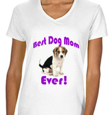 Copy of Best Dog Mon Ever Ladies T shirt White