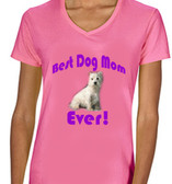 Best Dog Mon Ever Ladies Pink T shirt