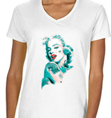 Marilyn Monroe Tattooed Ladies T shirt White