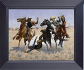 Canvas Print Frederic_Remington_-_Aiding_A_Comrade Framed Art Photograph Print