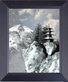 Japanese Pagoda In The Mountain Painting Framed Art Photograph Print
