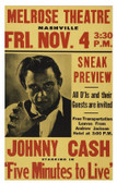 Johnny Cash 5 Min To Live 12 X 18 POSTERS
