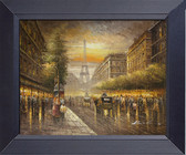 Paris France Evening Stroll Efiel Tower. Framed Print