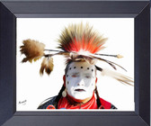 Apache Canvas Print Native American Indian War Painted Face Framed Print